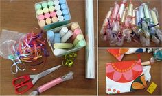 Great gift for toddlers: chalk wrapped like candy!