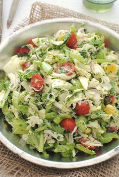 Crabmeat salad with celery, tomatoes, and hard boiled eggs.  Sounds easy and good.