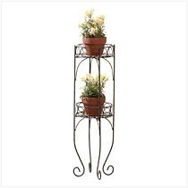 Metal Two-Tier Plant Stand Follow us and/or like us on Facebook www.facebook.com/inandout4ubyjmk   Instagram: http://instagram.com/inandoutbyjmk and Pinterest: www.pinterest.com/inandout4u  All Items posted here can be bought at www.inandout4u.com and if you are following or like us on any of the above sites, email me for your special discount code to receive 35% off first purchase 