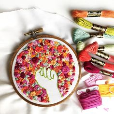 Pink and green modern embroidery art feminist movement resist Modern Embroidery, Embroidery Art, Embroidery Patterns, Feminist Movement, Baby Girl Gifts, Baby Girls, Protest Art, Feminist Art, Gifts For New Moms