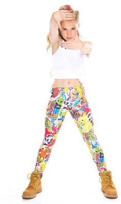 Zara Terez kids youth stickers leggings - Winged Monkey Printed Leggings 4f0c3f3ef