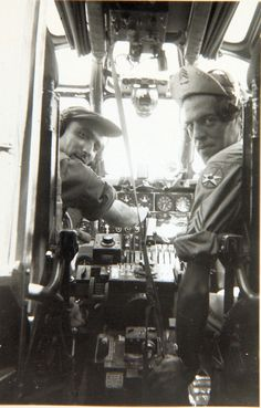 Pilot and co-pilot of a B-24 Liberator, South Pacific c. 1944