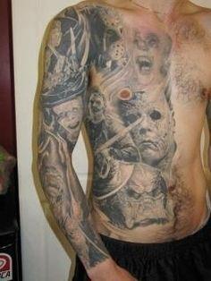 Classic Horror Movie Tattoos horror movie character