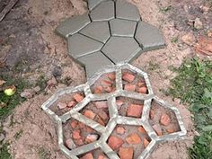 Carport Designs, Concrete Bricks, Vegetable Garden, Home Projects, Stepping Stones, Backyard, Flowers Garden, Dom, Outdoor Decor