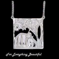 For Everything Genealogy - Scottish Bluebells Design Square Large Sterling Silver Pendant, $130.00 (http://foreverythinggenealogy.mybigcommerce.com/scottish-bluebells-design-square-large-sterling-silver-pendant/)
