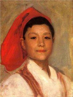 Head of a Neapolitan Boy - John Singer Sargent