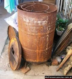 Rocket Stoves, Canning, Ideas Para, Free Time, Homemade Furniture, Homemade Smoker, Bricolage, Home Canning, Conservation