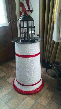 Solar lighthouse well pump cover