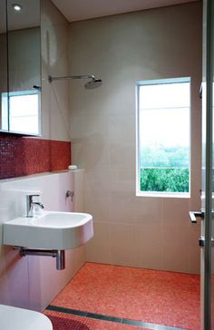 No separate shower stall. Tile is amazing