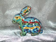 Billedresultat for stained glass mosaic hare