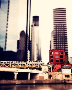 Daycation Idea - Into the city on a #CTA train along the Chicago River.