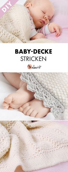 Baby-Decke/Plaid selber stricken - gratis Strickanleitung via Makerist.de