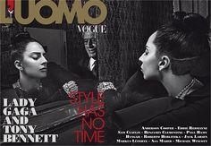 """Lady Gaga & Tony Bennett for """"L'uomo Vogue"""" Magazine (November 2014)"""