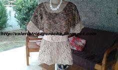 Valéria  Fashion: Blusa em tricô e crochê