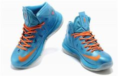 Discount Nike Lebron 10 Blue Orange0