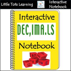 Interactive Decimals Notebook. This Interactive Decimals Notebook is FULL of FUN Decimal Activities for your students or child. All the activities in this packet can be used for centers or whole group instruction. This Interactive Decimals Notebook is PERFECT for complementing your decimals unit.This Interactive Decimals Notebook includes:#1 - Student Notes#2 - Exercise 1-12 (141 total problems)#3 - Practice Test ( 26 total problems)#4 - Answer keys for exercises and practice test***Please…