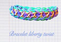 Le Liberty Twist Suivez les explications en vidéo de Rainbow Loom Creative pour savoir comment réaliser le bracelet Liberty Twist, un modèle niveau avancé fait avec des élastiques Rainbow Loom, à faire avec les couleurs de votre choix.