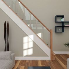 Details about Glass Staircase Balustrade Kit - Glass Stair Parts & Oak Handrails Glass Staircase Balustrade Kit - Glass Stair Parts & Oak Handrails in Home, Furniture & DIY, DIY Materials, Stairs Oak Handrail, Staircase Railings, Banisters, Staircase Design, Stair Bannister Ideas, Wood Railing, Staircases, Modern Stairs Design, Modern Stair Railing