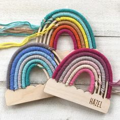 Personalized Rainbow Kids Craft Kit | Engraved Wood | Jane
