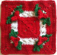 Holly Square Crochet Dishcloth – Maggie Weldon Maggies Crochet
