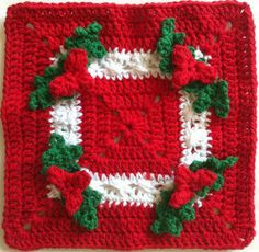 Holly Square Crochet Dishcloth – Maggie Weldon Maggies Crochet