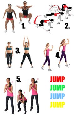 Everyday exercises we can do toghether! Tuck Jumps, Fitness Challenges, Get Skinny, Jumping Jacks, Getting Bored, Fitness Workouts, Jello, Workout Challenge, Bathroom Storage