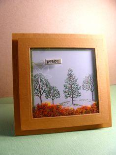 IC351 - Fall Flower Soft Shaker Card.