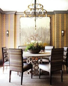 Winston Chandelier from Arteriors Home features 15 arm lighting combined with double ring tiers, tube shaped candleholders and chain in vintage brass finish with exposed black nylon fabric cording that ripples organically through the center of the fixture. Stunning display for home or office. As seen in Atlanta Homes & Lifestyle magazine