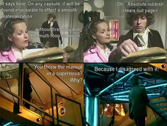 I haven't watched much of the original Doctor Who, but this is funny.