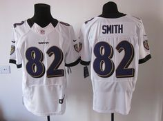 #82 Smith White Baltimore Ravens Nike Womens Limited Custom Jersey  $23