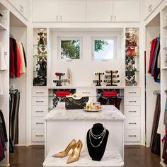 Master Bedroom Closet - contemporary closet by Spaces Designed, Interior Design Studio, LLC