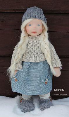 Plume by North Coast dolls Crochet Dolls Free Patterns, Doll Patterns, Girl Dolls, Baby Dolls, Felt Doll House, Sewing Dolls, Waldorf Dolls, Soft Dolls, Diy Doll
