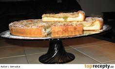 Koláč s rebarborou a tvarohem. Sweet Recipes, French Toast, Cheesecake, Food And Drink, Breakfast, Baking Ideas, Shape, Morning Coffee, Cheesecakes
