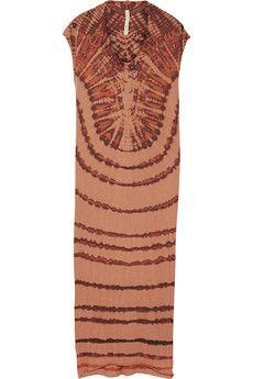 Raquel Allegra - Tie-dyed cotton-blend jersey maxi dress