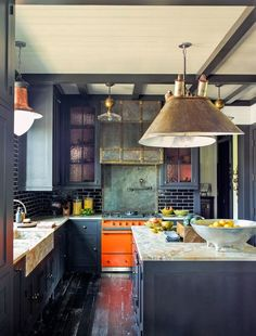 Awesome kitchen paint color based on expert recommendations from cool neutrals to tans, browns, dark white blues, navy gray and bright reds - dark or with white cabinets