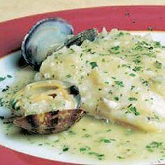 Receta Merluza en salsa de Almejas   Kocinarte.com