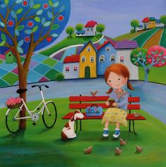 View Iwona Lifsches's Artwork on Saatchi Art. Find art for sale at great prices from artists including Paintings, Photography, Sculpture, and Prints by Top Emerging Artists like Iwona Lifsches. Child Draw, Spongebob Painting, Original Paintings, Original Art, Picture Composition, Am Meer, Naive Art, Whimsical Art, Cartoon Drawings