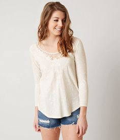 Lucky Brand Embroidered Top - Women's Shirts/Blouses in Marshmellow | Buckle