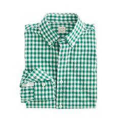 Boys' Secret Wash shirt in gingham