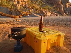 Riverbed camping