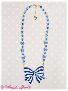 Party Ribbon Necklace Party Ribbon ネックレス BRAND: Angelic Pretty RELEASE YEAR: 2010 PRICE: ¥3,990