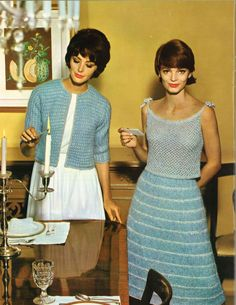 Star Frosted • 1960s Cardigan Jacket Sweater Skirt Camisole Patterns • 60s Vintage Knitting Pattern • Retro Knit PDF by TheStarShop on Etsy