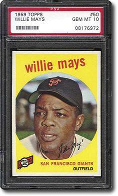 1959 Topps Willis Mays PSA 10