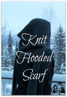 Knit Hooded Scarf ~ Free pattern! - IdlewildAlaska