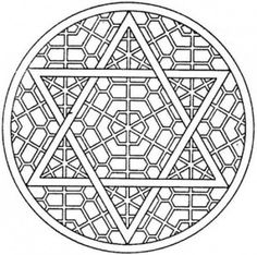 Jewish geometric ornament on the basis of the Star of