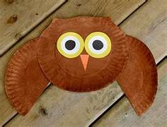 """paper plate owl - I pinned it in """"Math"""" because it's a great opportunity to talk about circles..."""