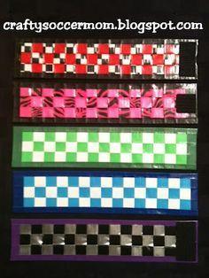Duck Tape Woven Bracelet