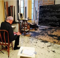 Pierre Soulages atelier de paris