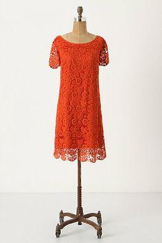 Orange lace - how fun!