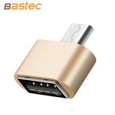 Bastec Металл Мини Micro USB К USB OTG Адаптер 2.0 Конвертер для Samsung LG Sony TCL XIomi Huawei